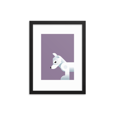 Framed Arctic Fox