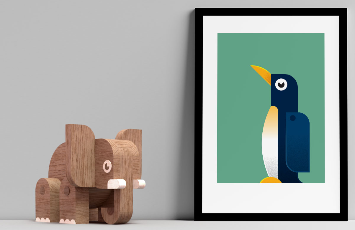 Bring a bit of playfulness into your home with Mezoozoo Artprints. Perfect for adding a splash of colour into your life.