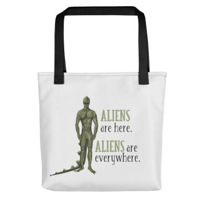 Aliens Are Here Tote Bag, Disclosure, Alien Lover, Alien Invasion, Starseeds, Indigos, Star child, Spirituality