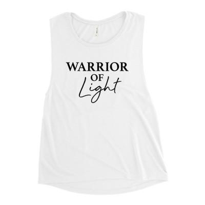 Ladies' Warrior of Light Muscle Tank, Rainbow Warrior, Starseed Tshirts, Star Child Shirt, Manifestation Shirts, Spiritual Shirts, New Age
