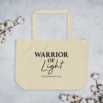 Large Organic Warrior of Light Tote Bag | Spiritual Bags | Starseeds | Indigos | Healer | Spirituality | Lightworker | Manifestation | LOA | Crystals