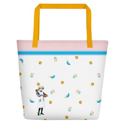 Baking girl Beach Bag