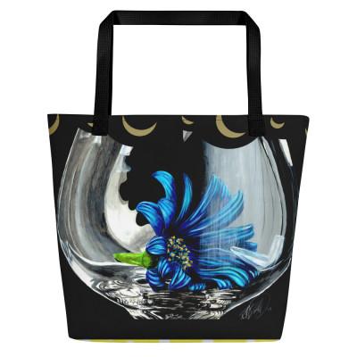 Electric Blue Beach Bag