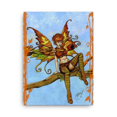 Firefly Fairy Framed Canvas