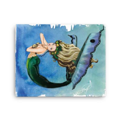Butterfly Mermaid Canvas