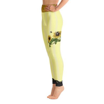 Vintage Sunflowers Yoga Leggings