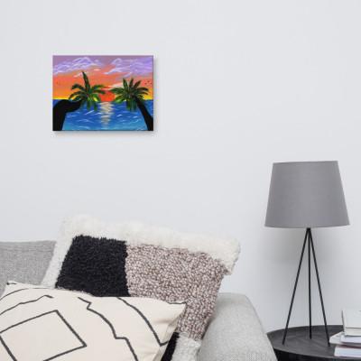 Tropical Sunset Canvas