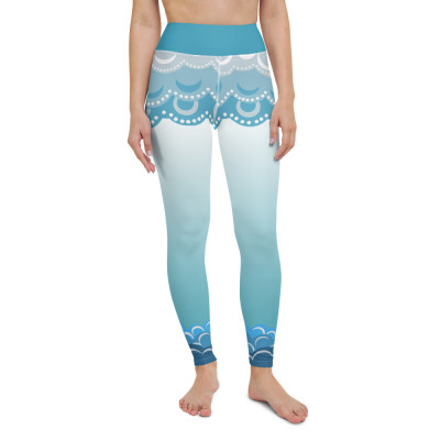 Clouds and waves Yoga Leggings