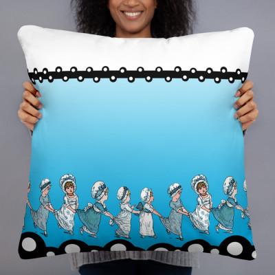 Blue girls Pillow