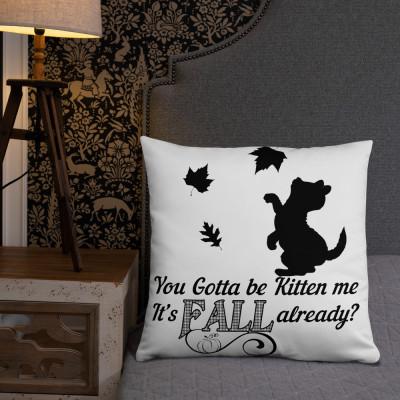 Fall Kitten Basic Pillow
