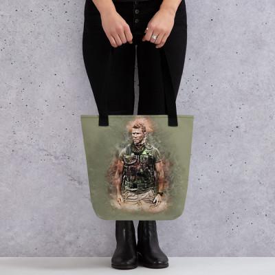 Sniper Beckett Grunge Tote bag