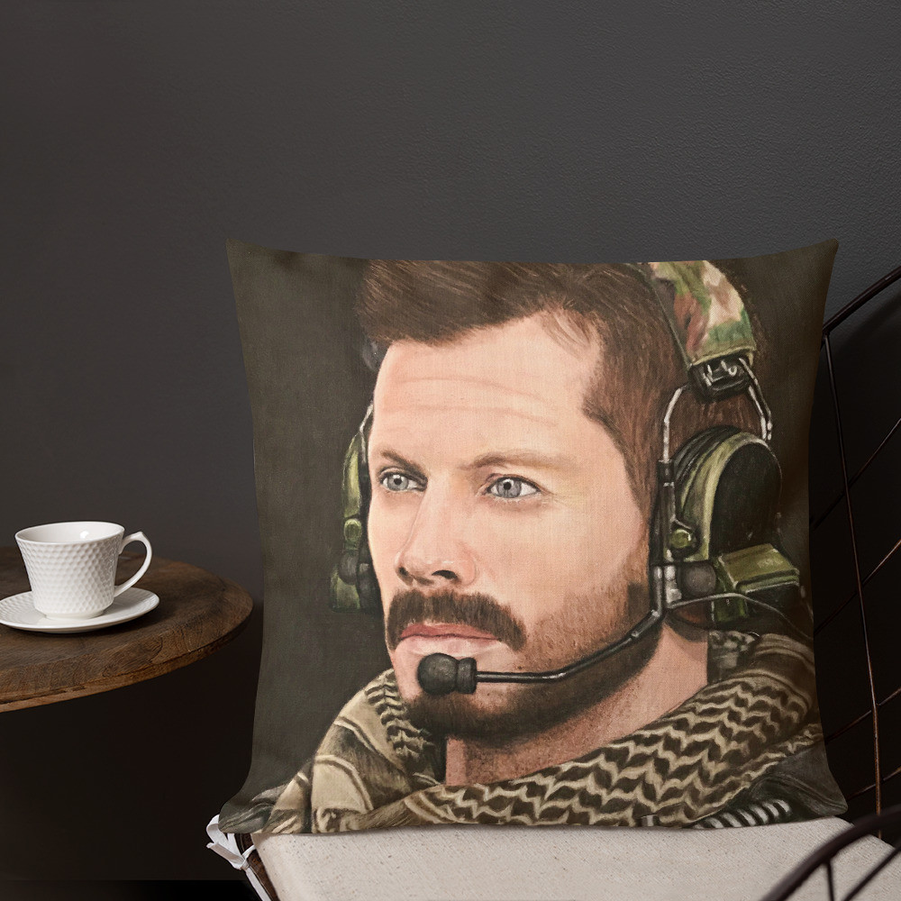 Call Of Duty Alex Echo 3-1 Pastel Drawing Premium Pillow