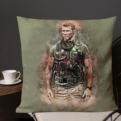 Sniper Beckett Grunge Premium Pillow