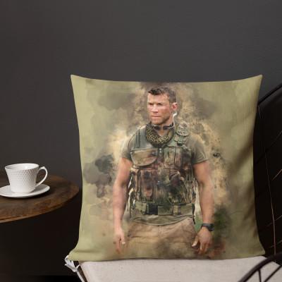 Sniper Beckett Watercolour Premium Pillow