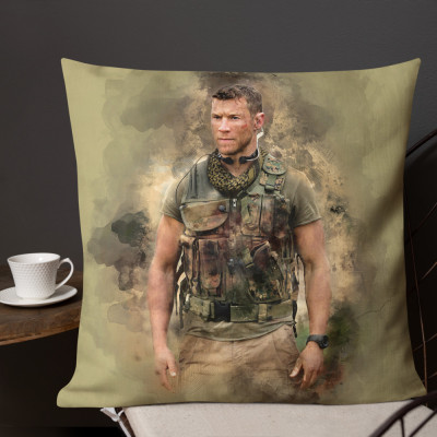 Sniper Beckett Watercolour Premium Pillow