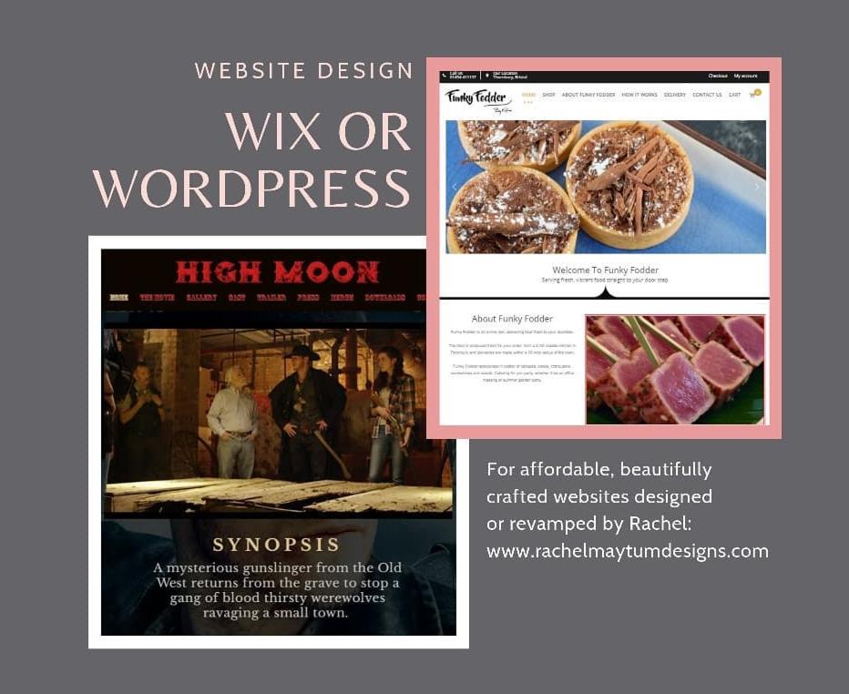 Design and revamp WIX & WordPress platform websites