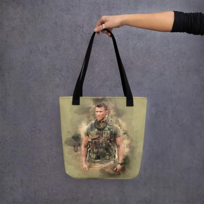 Sniper Beckett Watercolour Art Tote bag