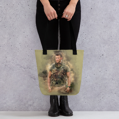 Sniper Beckett Watercolour Art Tote bag