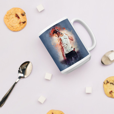Collins Grunge White Glossy Mug