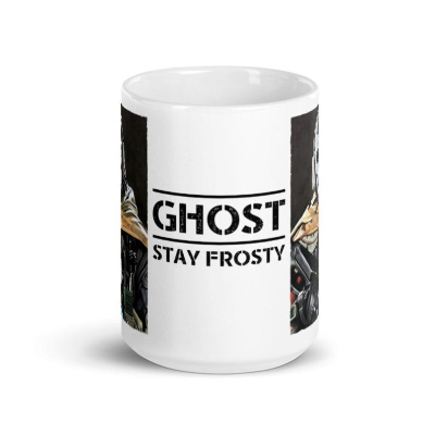 Call Of Duty Ghost Pastel Pencil Drawing Mug