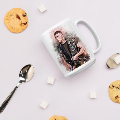 Sniper Baby Beckett Grunge Mug