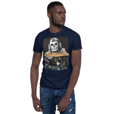 Ghost Pastel Pencil Drawing Short-Sleeve Unisex T-Shirt