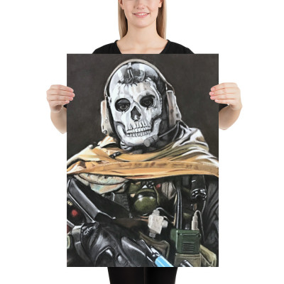 Call of Duty Ghost Pastel Art Poster