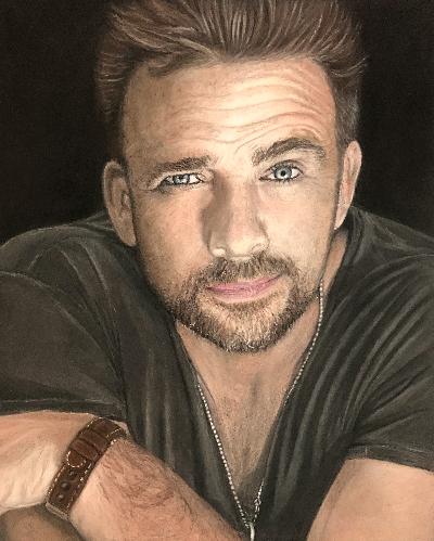 Celebrity Pastel Pencil Portrait Commission Art