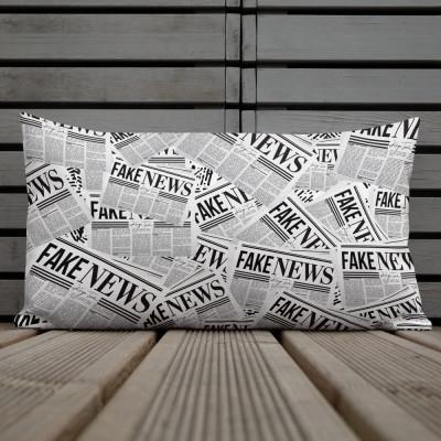 Fake News Newspaper Print - Premium Pillow