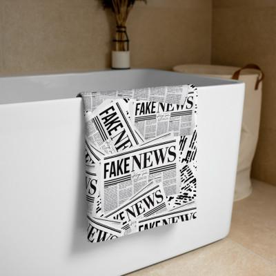 Fake News Newspaper Print - Towel