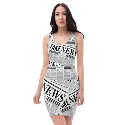 Fake News Newspaper Print - Dress