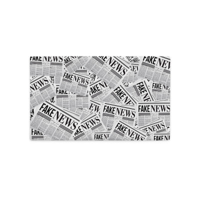 Fake News Newspaper Print - Premium Pillow Case