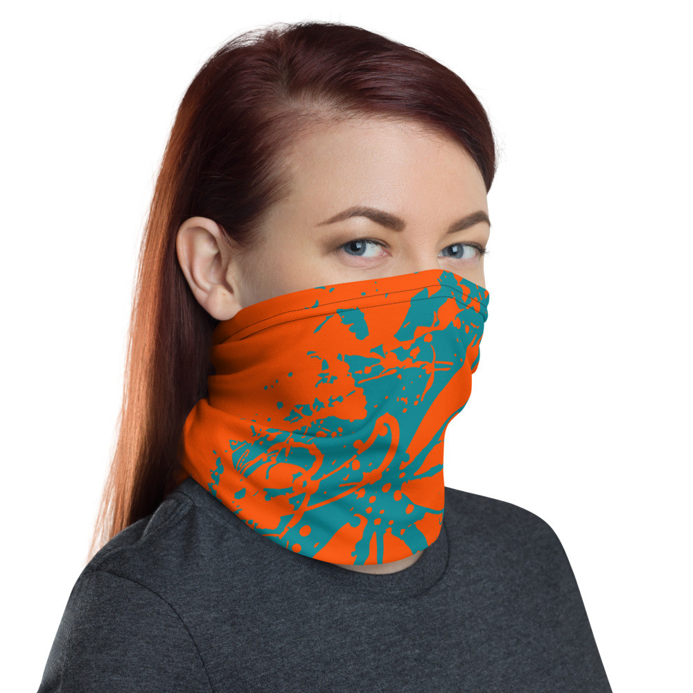 'Teal/Orange' Neck/Face Gaiter