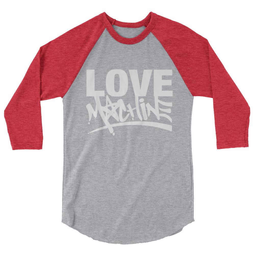 LOVE MACHINE 3/4 sleeve raglan shirt