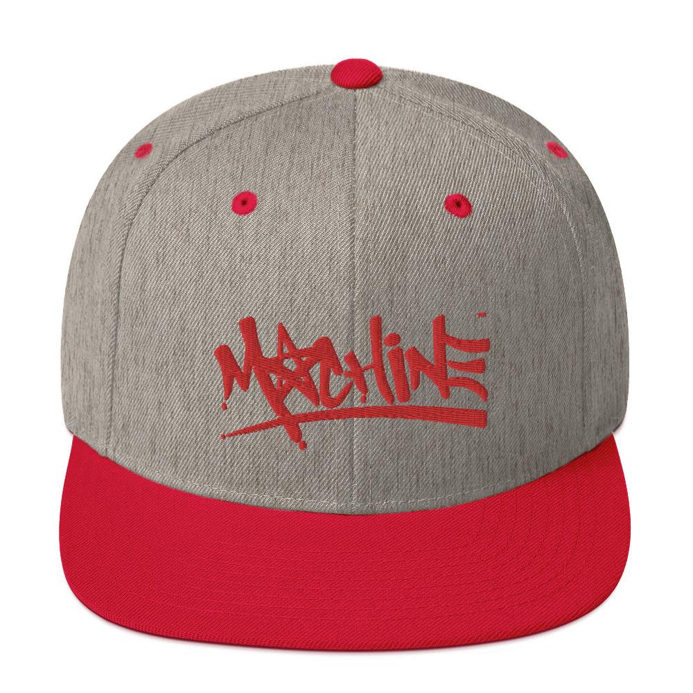 MACHINE OG Red Snapback Hat