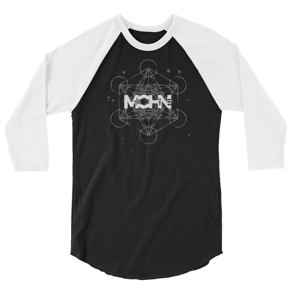 Metatrons Cube 3/4 sleeve raglan shirt