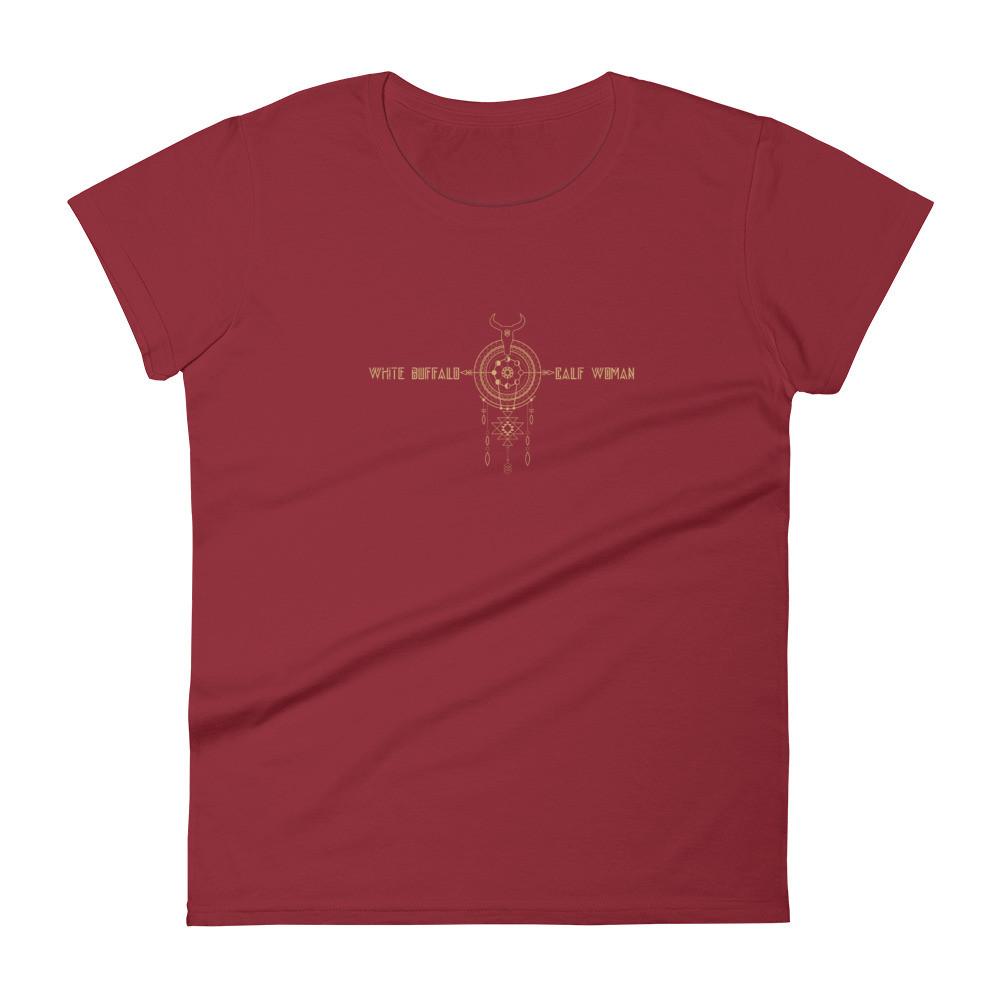 White Buffalo Calf Women's short sleeve t-shirt