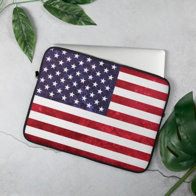 Grungy American Flag | Laptop Sleeve