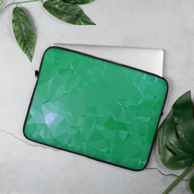 Green Low poly Geometric Pattern Laptop Sleeve
