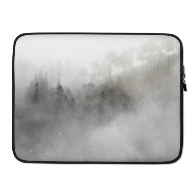 Misty Trees Where Dreams Sleep Laptop Sleeve