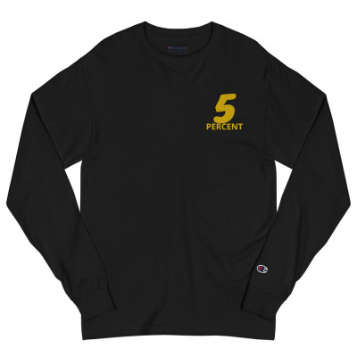 5 % Embroidered Men's Champion Long Sleeve Shirt