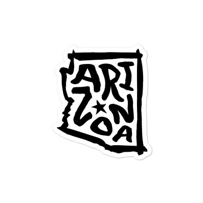 Arizona Sticker, Black on White