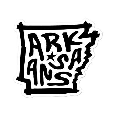 Arkansas Sticker, Black on White