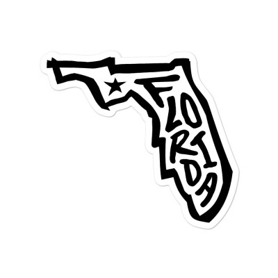 Florida Sticker, Black on White