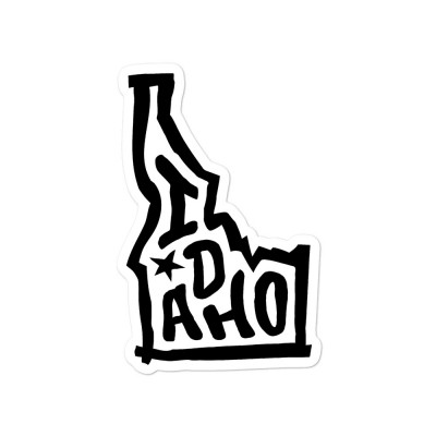 Idaho Sticker, Black on White