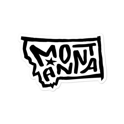 Montana Sticker, Black on White