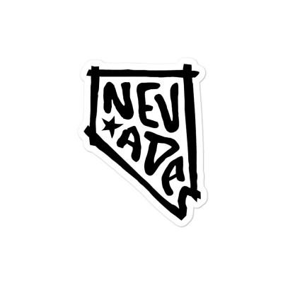 Nevada Sticker, Black on White