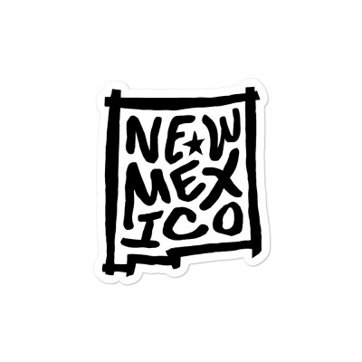 New Mexico Sticker, Black on White