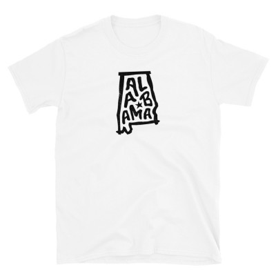 Alabama Shirt, Dark on Light, Unisex, Gildan Basic Softstyle