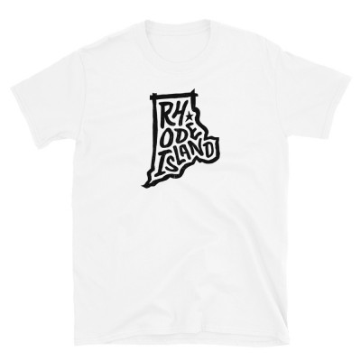 Rhode Island Shirt, Dark on Light, Unisex, Gildan Basic Softstyle